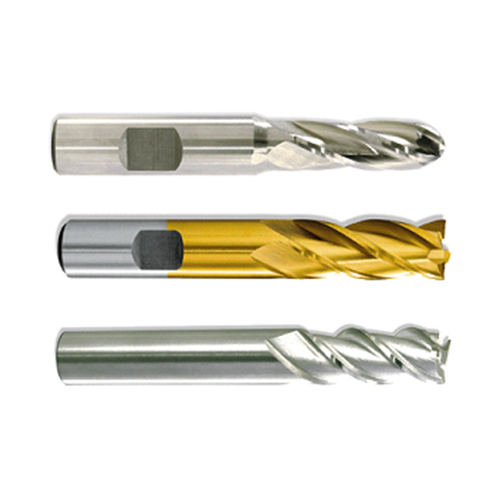 HIGH SPEED STEEL ENDMILLS WITH PARALLEL SHANK