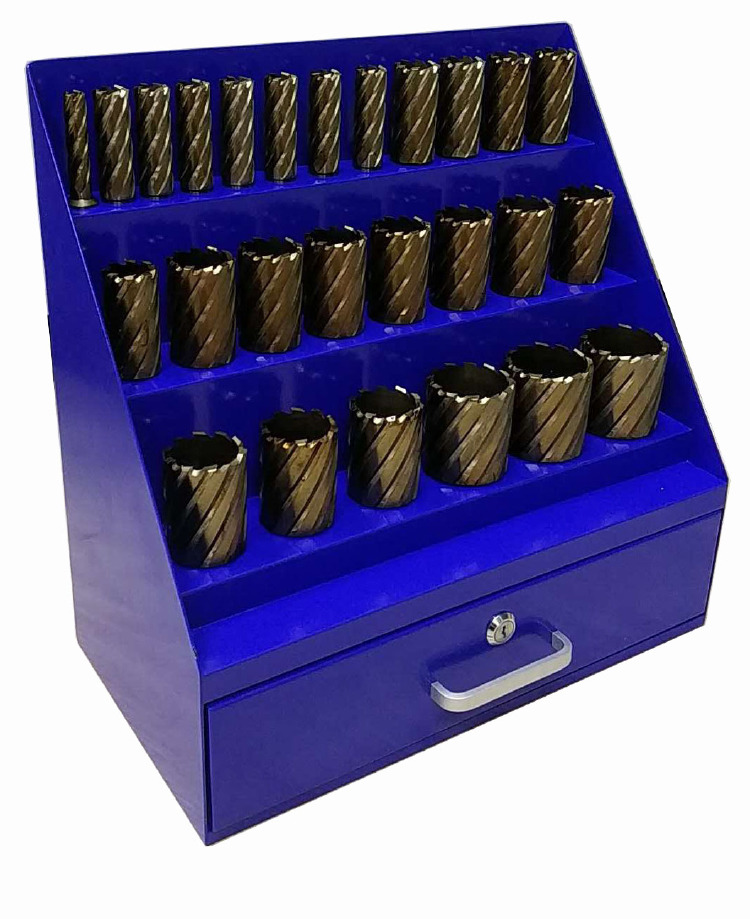 26pcs Annular Cutter Steel Box-Blue Color