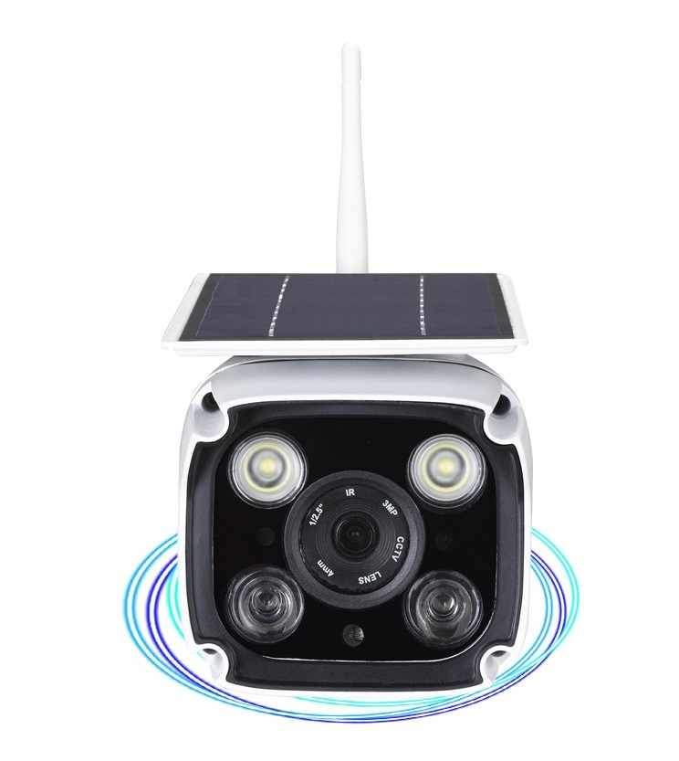 Solar outdoor induction network camera