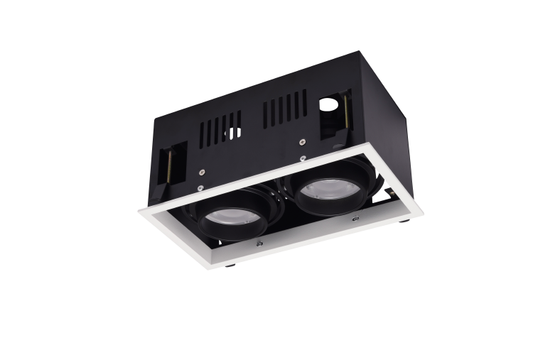 LED Grille Downlight 2x15W 2x20W