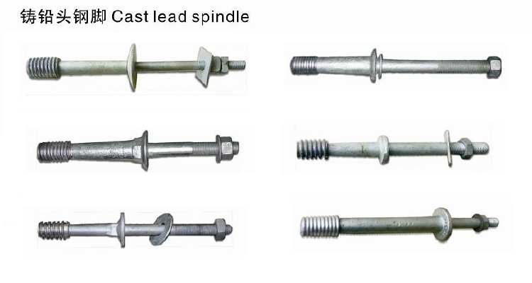 Spindles for pin type insulators ANSI standard