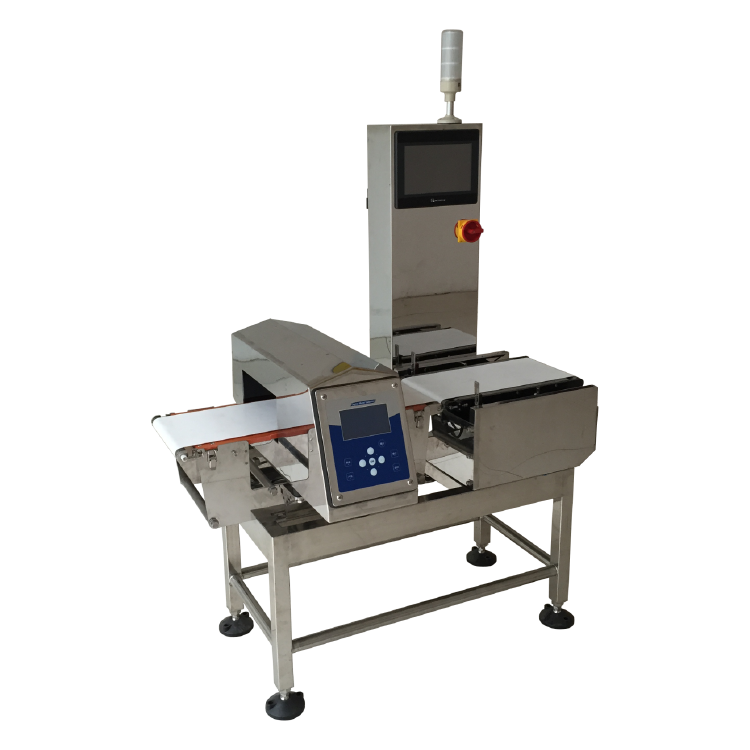 Combi Metal Detector and Checkweigher for snack and fruit