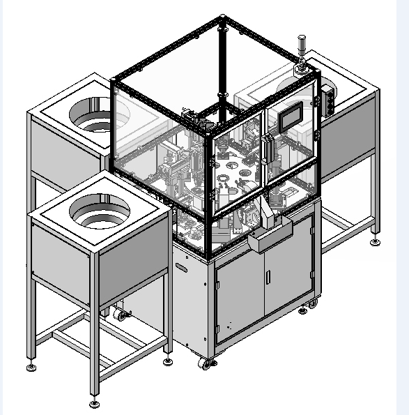 Lens three-piece assembly machine